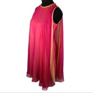 Beautiful vintage magenta 60's shift dress